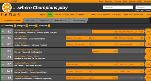 Find the games that are taking place right now and place a bet